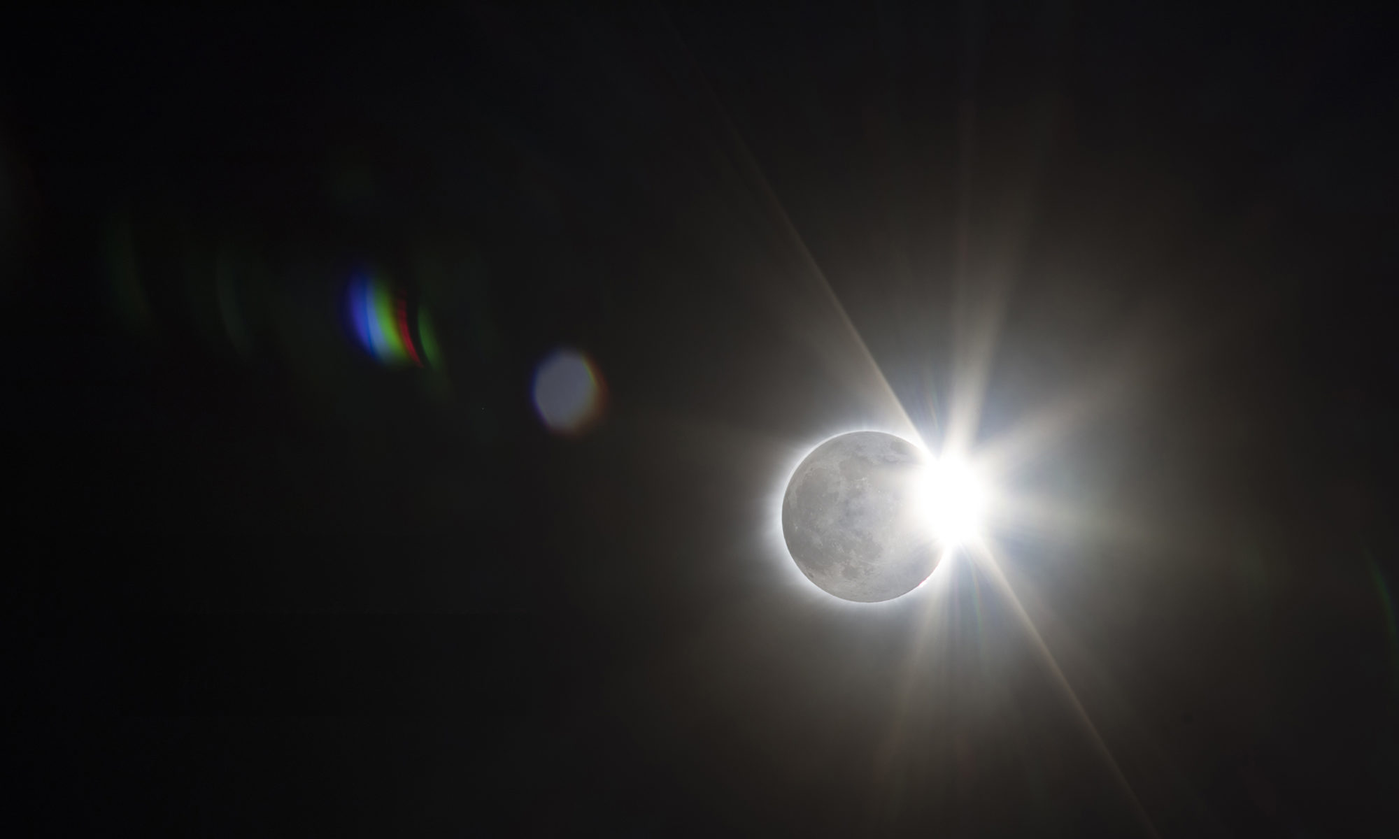 2017 Eclipse Rendered with Moon