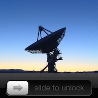 VLA Dish Lock Screen